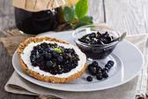 Blueberry jam on bread — Stock Photo