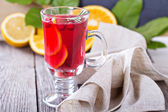 Cranberry orange punch with cinnamon — Stock Photo