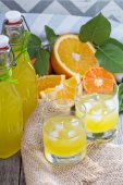 Homemade orange liqueur — Stock Photo