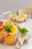 Baking with citrus fruits — Stock Photo