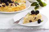 Kugel traditional dish baked pasta pie — Stock Photo