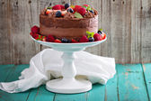 Chocolate cheesecake and devil food cake — Stock Photo