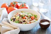 Quinoa salad with fresh vegetables — Stock Photo
