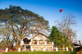 Hot air balloon on sky in Laos — Stock Photo