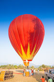 Hot air balloon on sky in Laos — Stock Photo