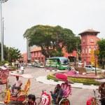 Malacca city, world heritage city in Melaka, Malaysia — Stock Photo #54920587
