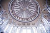 Tuanku Miizan zainal abidin mosque inside, Putrajaya,  Malaysia — Stock Photo