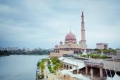 Putra Mosque located in Putrajaya city, Malaysia — Foto Stock
