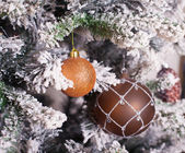 Decorated Christmas tree — Foto de Stock