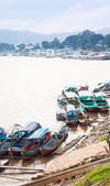 Mekong river in the place named Golden Triangle — Stock Photo