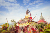 Oldest Underwater Temple in Kwan Phayao lake — Stock Photo