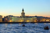 Kunstkamera and Neva river, Saint Petersburg — Stock Photo
