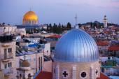 Jerusalem Old City at Night, Israel — Stock Photo