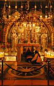 Golgotha Mountain, Temple of the Holy Sepulcher in Jerusalem — Stock Photo