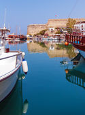 Marina and Kyrenia Castle (16th c.), North Cyprus — Stock Photo