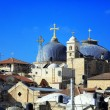 Roofs of Old City with Holy Sepulcher Chirch Dome, Jerusalem — Stock Photo #55912147
