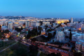 Jerusalem Old City at Night, Israel — Stock Photo
