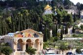 Church of All Nations and Mary Magdalene Convent on the Mount of — Stock Photo