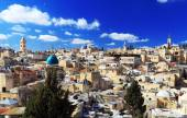 Roofs of Old City with Holy Sepulcher Chirch Dome, Jerusalem  — Стоковое фото