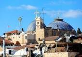 Roofs of Old City with Holy Sepulcher Chirch Dome, Jerusalem  — ストック写真