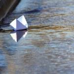 White Paper Boat Sailing — Stock Photo #66161790