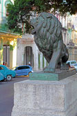 Lion Statues in Central Park of Havana — 图库照片