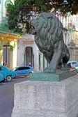 Lion Statues in Central Park of Havana — Foto de Stock