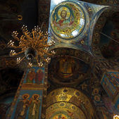Interior of The Church of the Savior on Spilled Blood, Saint Pet — Stock Photo