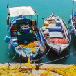 Vintage Fishing Boats at Heraklion Bay, Crete — Stok fotoğraf #84437738