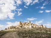 Craco, famous ghost town in basilicata, italy — Photo