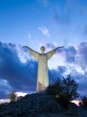 Christ the Redeemer of Maratea. Basilicata. italy — Stock Photo