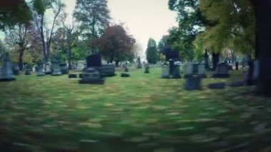 Cemetery Drive By — Wideo stockowe
