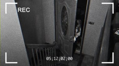 Home Security Camera Feed — Stock Video