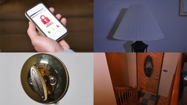 Seguridad para el hogar compuesto — Vídeo de stock