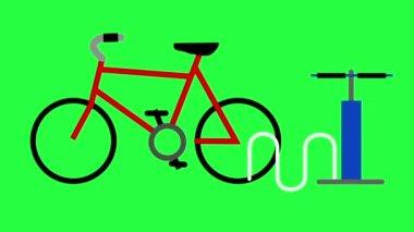 Bike Pump Animation — Stock Video