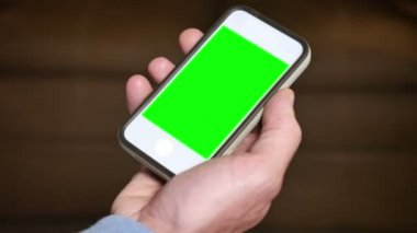 Tapping Green Screen Smartphone — Stock Video