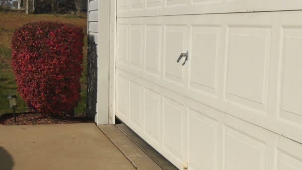 Se abre la puerta de garaje — Vídeo de stock