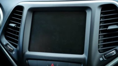 Vehicle In Dash Radio — Stock Video