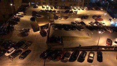 Parking Lot Establishing Shot — Stock Video