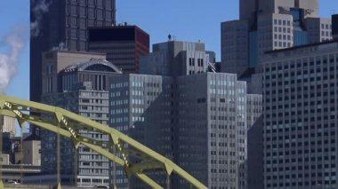 Pittsburgh City Skyline — Stock Video