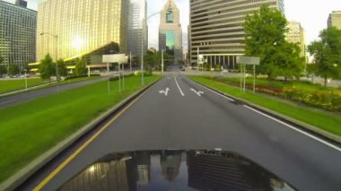 Driving into downtown Pittsburgh, Pennsylvania. — Stock Video