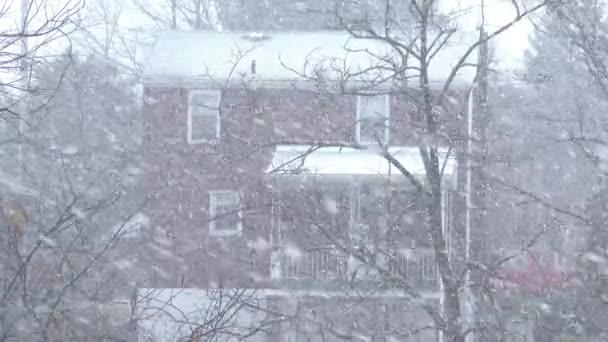 Bulletins d'enneigement dans un quartier ouest de la pennsylvanie — Vidéo