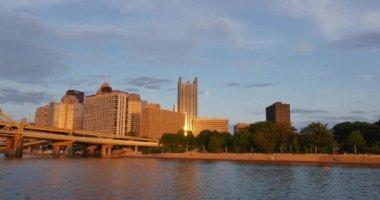Skyline of Pittsburgh, Pennsylvania — Stock Video