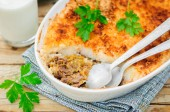 Hachis Parmentier, French Version of Shepherd's Pie — Stock Photo