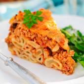 A Piece of Bolognese Pasta Bake — Stock Photo