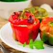 Capsicums Stuffed with Cheese and Herbs — Stockfoto