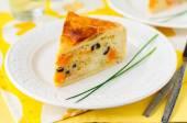 Greek Rice, Pumpkin, Kalamata Olive and Feta Pie — Stock Photo