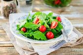 Rocket (Arugula) and Cherry Tomato Salad — Stock Photo