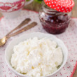 Cottage Cheese (Quark, Cream Cheese, Curd) in a White Bowl — Stock Photo #57162515