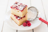 Raspberry and Yogurt Cake — Stock Photo